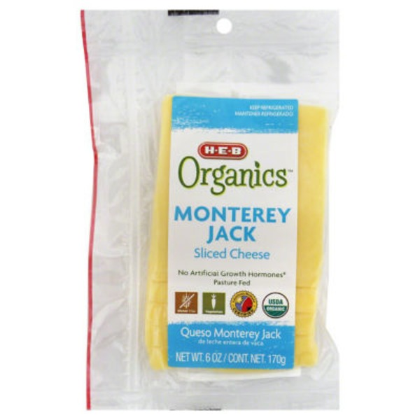 H-E-B Organics Sliced Monterey Jack Cheese