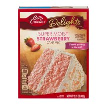 Betty Crocker® Super Moist Cake Mix Strawberry 15.25 oz Box, 15.25 OZ