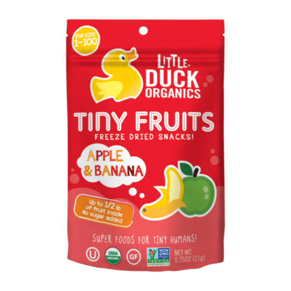 Little Duck Organics Tiny Fruits Apple & Banana