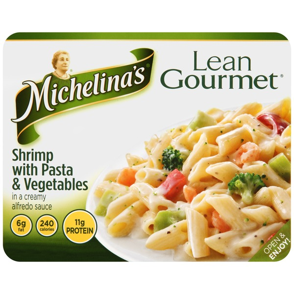 Michelina's In a Creamy Alfredo Sauce Shrimp with Pasta & Vegetables