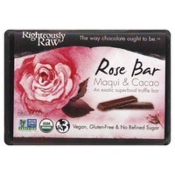 Righteously Raw Maqui Rose Cacao Bar