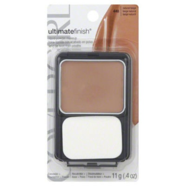 CoverGirl Outlast All Day COVERGIRL Outlast All-Day Ultimate Finish 3-in-1 Foundation Makeup Natural Beige .4 oz (11 g) Female Cosmetics