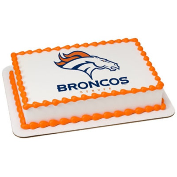 Denver Broncos 1/4 Sheet Cake