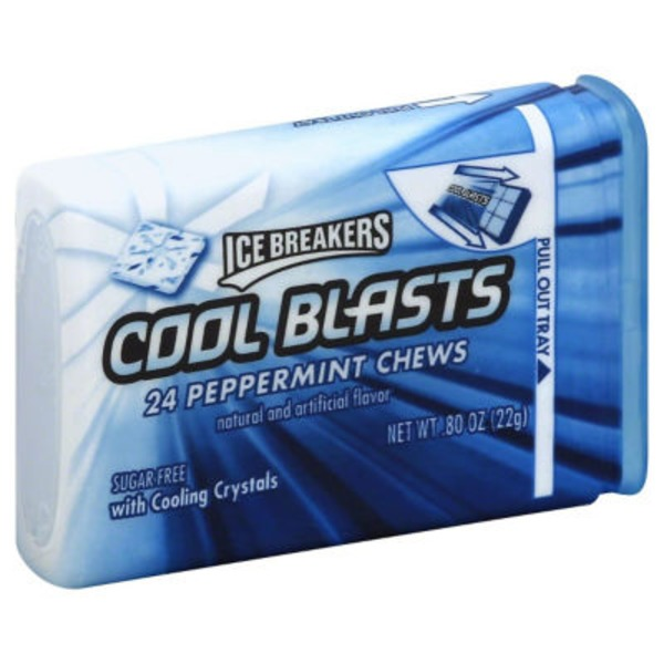 Ice Breakers Cool Blasts Peppermint Chews
