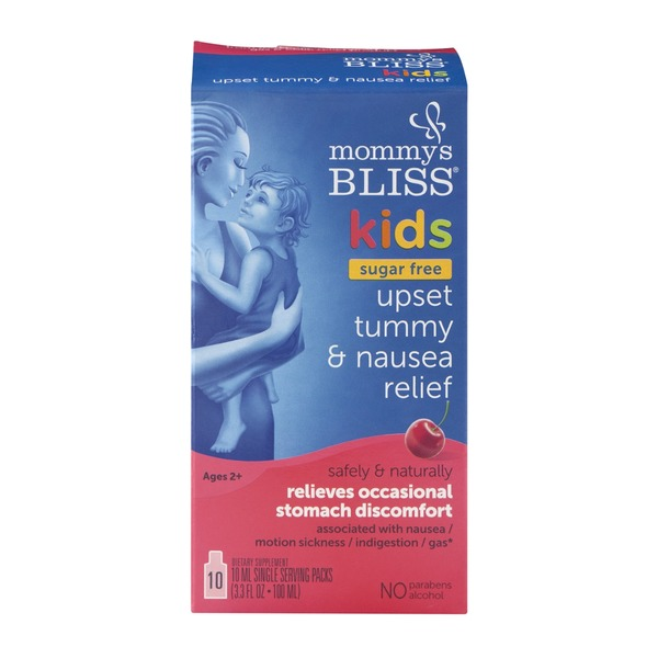 Mommy's Bliss Kids Sugar Free Upset Tummy & Nausea Relief - 10 CT