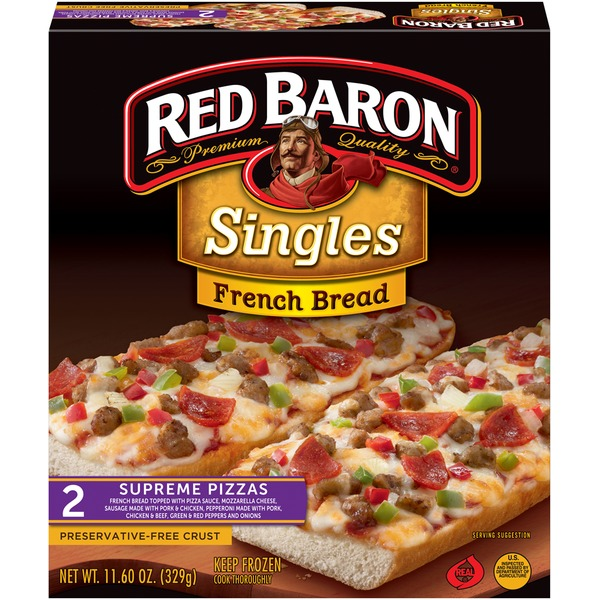Red Baron Singles French Bread Supreme Pizza