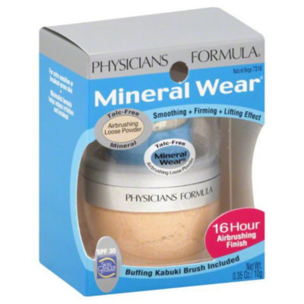 Mineral Wear™ 7316 Natural Beige Mineral Airbrushing--Beige natuel minerale zero defaut Loose Powder--Poudre libre