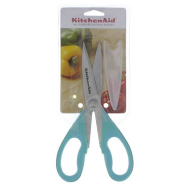 KitchenAid Aqua Sky All Purpose Kitchen Shears With Blade Cover