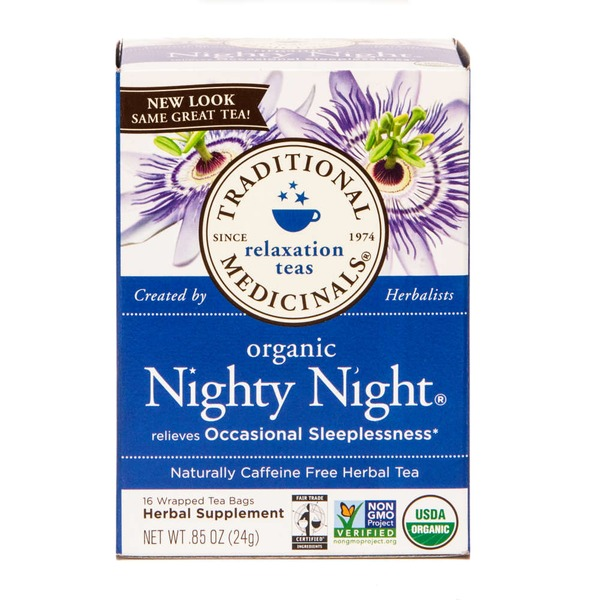 Traditional Medicinals Organic Nighty Night, Caffeine-Free Herbal Tea