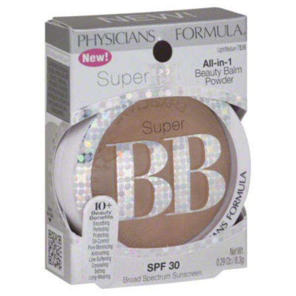 Super Bb 7836 Light/Medium All in 1 Beauty Balm SPF 30 Powder
