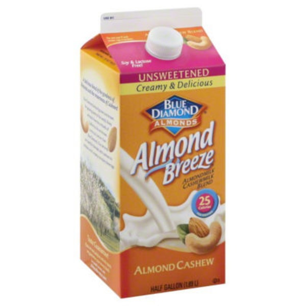 Almond Breeze Almond Cashew Unsweetened Original Almondmilk Cashewmilk Blend
