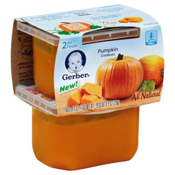 Gerber 2 Nd Foods Pumpkin Baby Food