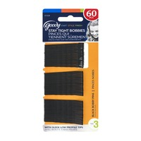 Goody Start Style Finish Stay Tight Bobbies Bobby Pins Black - 60 CT