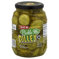 H-E-B Pickle Me Dilley Fresh Pack Hamburger Dill Chips