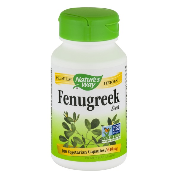Nature's Way Fenugreek Seed 610mg Capsules - 100 CT