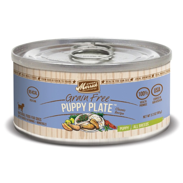 Merrick Classic Grain Free Puppy Plate Canned Puppy Food Case Of 24