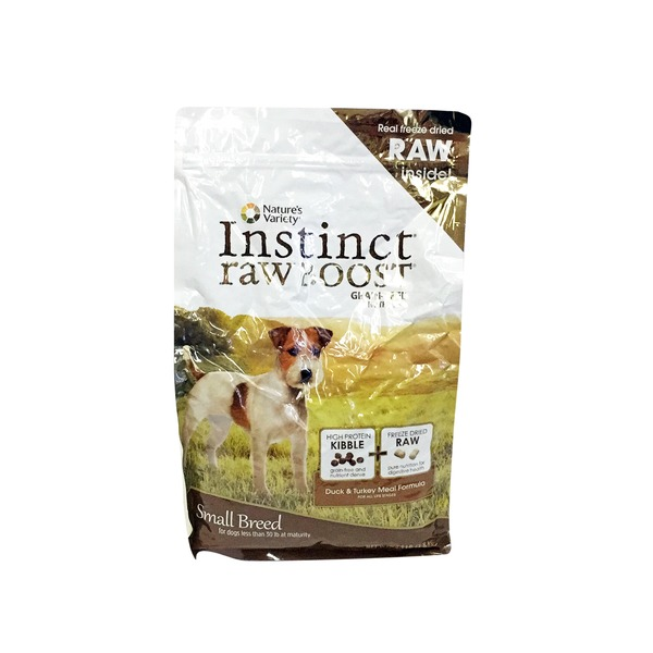 Nature's Variety Dog Instinct Small Breed Raw Boost Kibble Duck