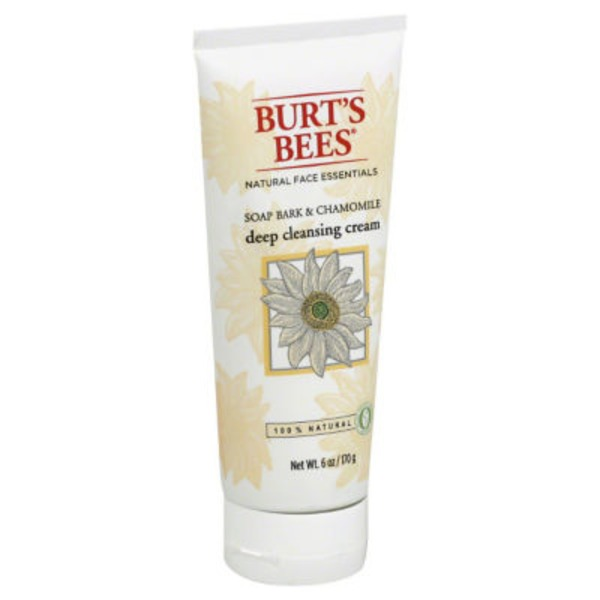 Burt's Bees Soap Bark and Chamomile Deep Cleansing Cream, 6 Ounces