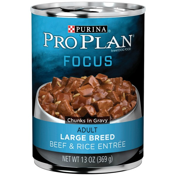 Pro Plan Dog Wet Focus Adult Large Breed Beef & Rice Entree Chunks in Gravy Dog Food