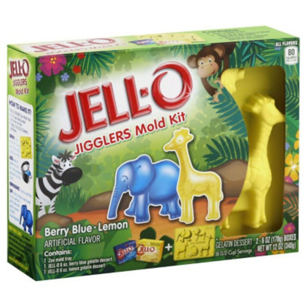 Jell-O Berry Blue & Strawberry Jigglers Mold Kit