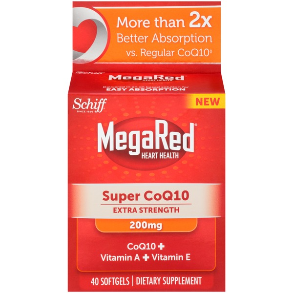 Megared Super CoQ10 Extra strength 200mg Softgels Dietary Supplement