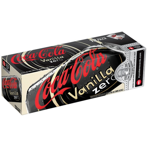 Coca Cola Vanilla Zero 12 Oz Fridge Pack Cola