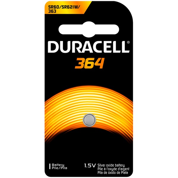 Duracell 364 Silver Oxide Coin Button Battery 1 count  Specialty Batteries