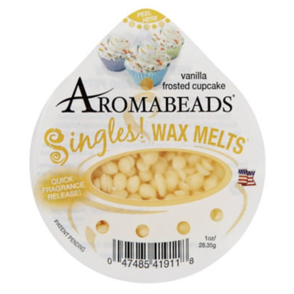 Aromabeads Singles Wax Melts, Vanilla Frosted Cupcake
