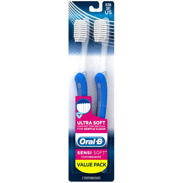 Oral-B Sensitive Oral-B Sensi-Soft Toothbrush Twin Pack  Oral Care