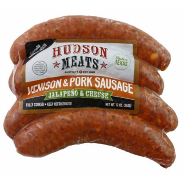 Hudson Meats Vension & Pork Jalapeno & Cheese Sausage