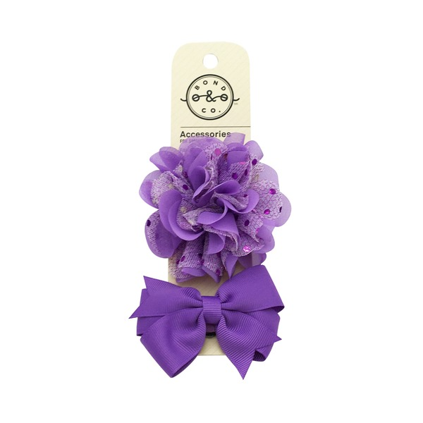 Bond & Co Purple Flower Bow