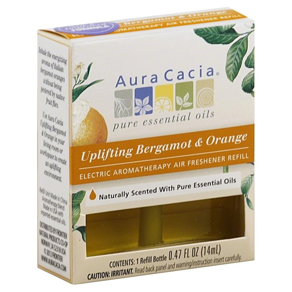 Aura Cacia Air Freshener Refill, Electric, Aromatherapy, Uplifting Bergamot & Orange