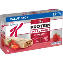 Kellogg's Special K Strawberry Protein Meal Bars, 1.59 oz, 12 count