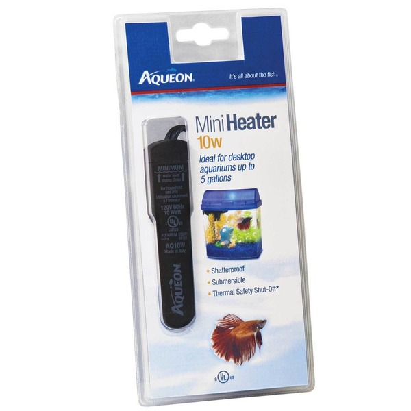 Aqueon Submersible Mini Aquarium Heater 10 W