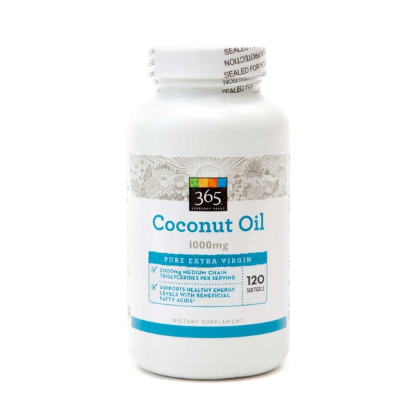 365 Cocounut Oil 1000 Mg