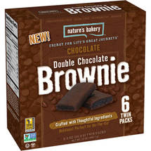 Nature's Bakery Chocolate Double Chocolate Brownies