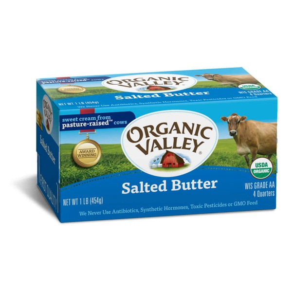 Organic Valley Organic Salted Quarters Butter