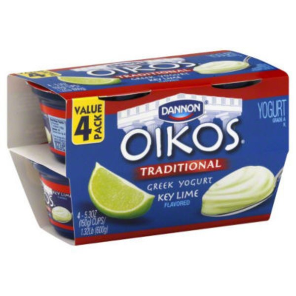 Oikos Greek Key Lime Whole Milk Yogurt