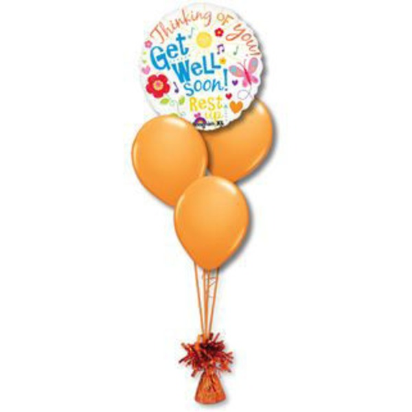 Get Well Petite Balloon Bouquet