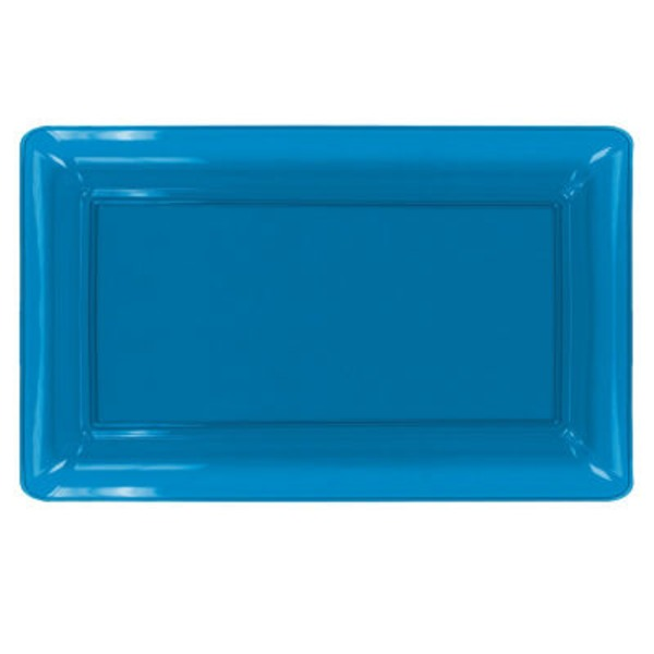 Northwest Party Essentials Neon Blue Rectangular Tray