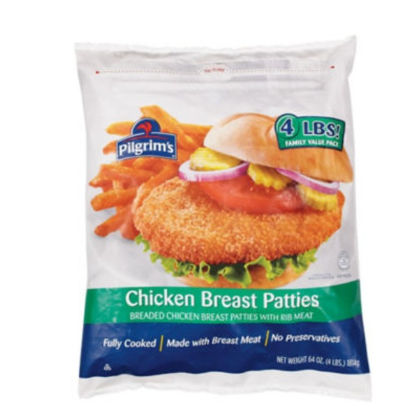 Pilgrim's Breaded Chicken Breast Patties