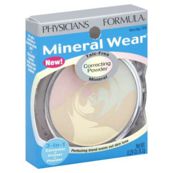 Mineral Wear™ 7309 Natural Beige Mineral--Beige naturel minerale Correcting Powder--Poudre correctrice