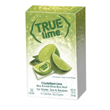True Lime Drink Mix, Crystallized Lime, .90 Oz, 32 Packets, 1 Count