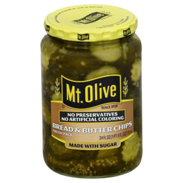 Mt. Olive Simply Pickles Bread & Butter Chips Pickles