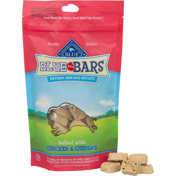 Blue Buffalo Mini Natural Dog Biscuits Baked With Chicken and Cheddar
