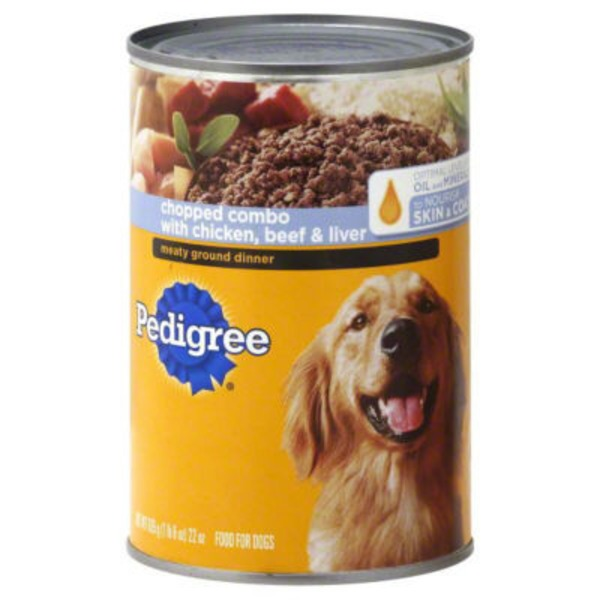 Pedigree Meaty Ground Dinner Chopped Combo with Chicken Beef & Liver Wet Dog Food
