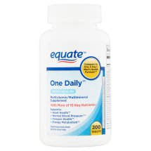 Equate men's health formula one daily with lycopene dietary supplement, 200 ct