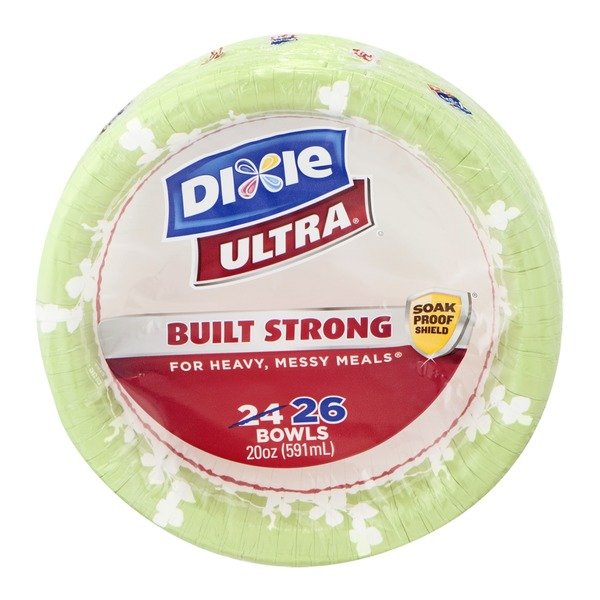 Dixie Ultra Built Strong Bowls - 26 CT