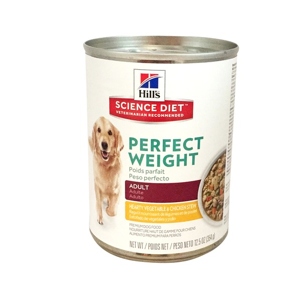 Hill's Science Diet Perfect Weight Adult Hearty Vegetables & Chicken Stew Premium Dog Food