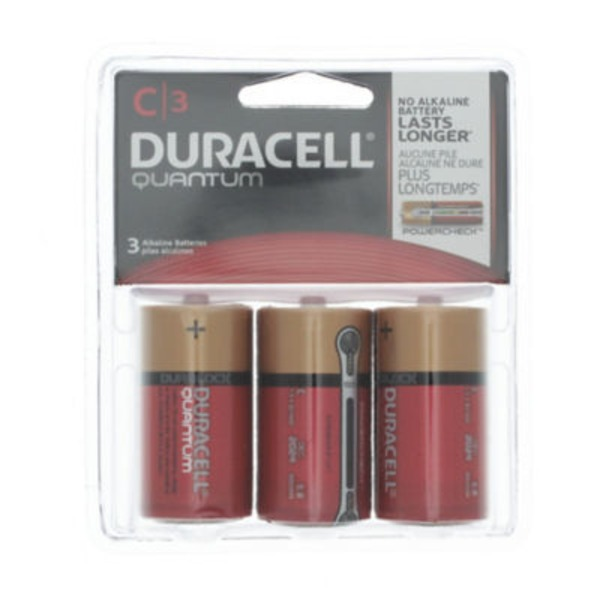 Duracell Quantum Duracell Quantum C Alkaline Batteries 3 count Primary Major Cells